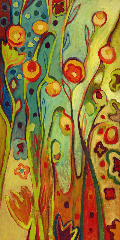 Floral Poster featuring the painting Where Does Your Garden Grow by Jennifer Lommers