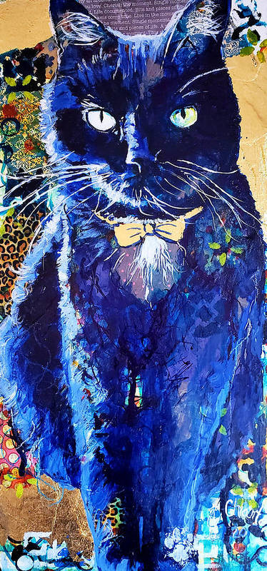 Cat Poster featuring the painting His Majesty by Goddess Rockstar