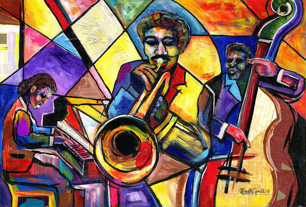 Jazz Poster featuring the painting And Then There Was Da Blues by Everett Spruill