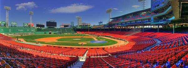 Fenway Park Interior Panoramic - Boston by Joann Vitali