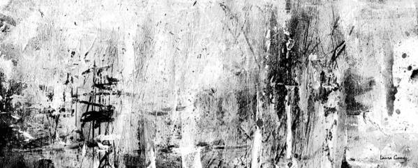 Old Memories - Balck and White Abstract Art by Laura Gomez - Strip-Long Size by Laura  Gomez