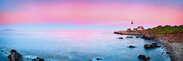 Pano Poster featuring the photograph Portland Lighthouse by Emmanuel Panagiotakis