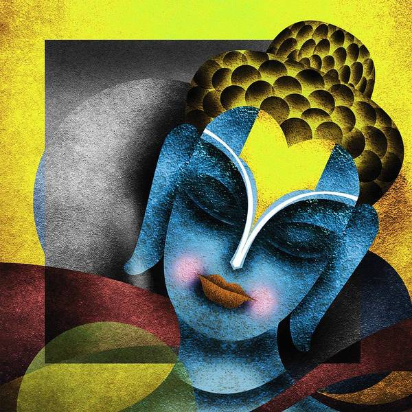 Abstrat Paintings Buddha Poster featuring the digital art Photoshop Painting by Sandip Ghodke