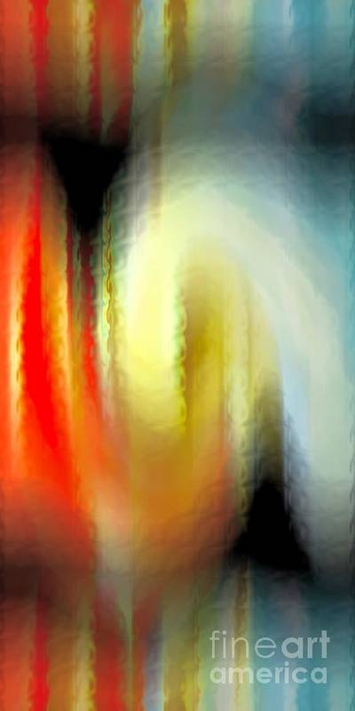 Abstract Poster featuring the digital art Evanescent Emotions by Gwyn Newcombe