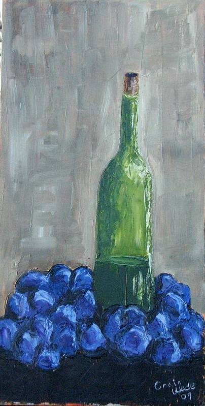 Wine Poster featuring the painting Untitled by Craig Wade