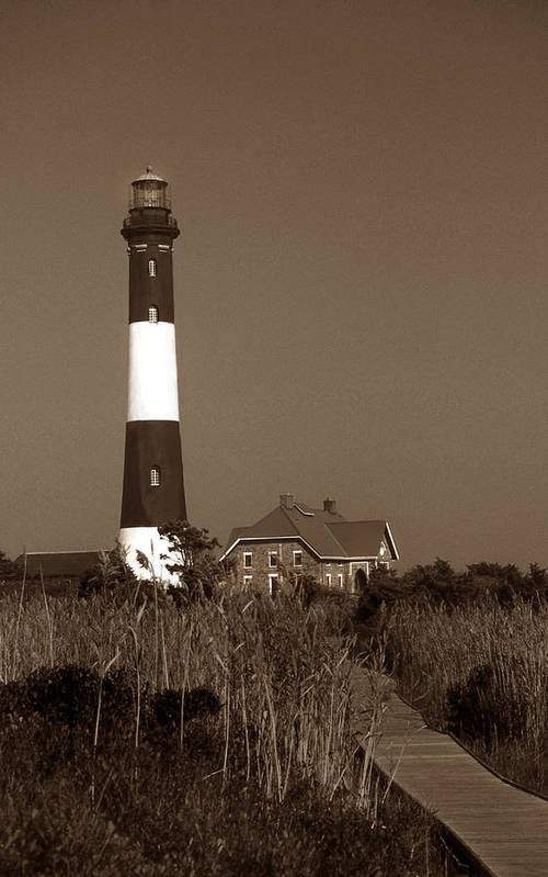 Ny Poster featuring the photograph Fire Island Lighthouse by Skip Willits
