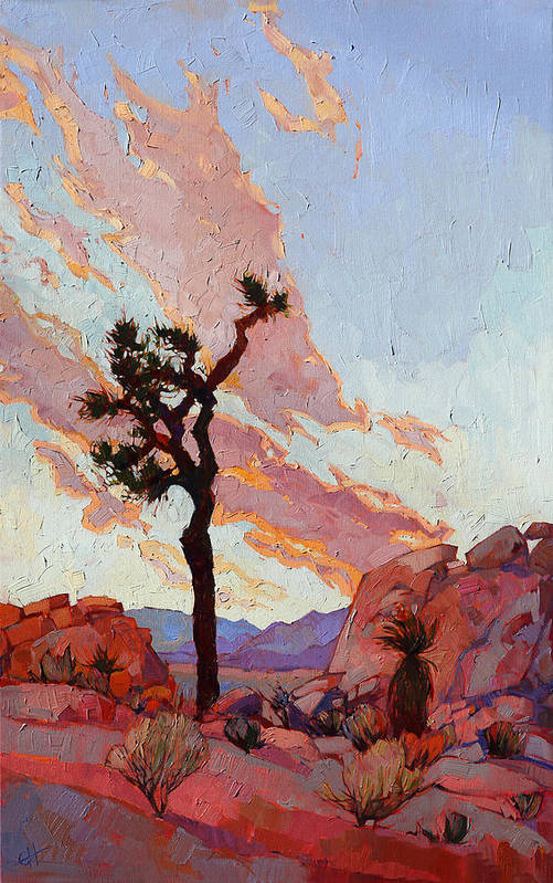 Joshua Tree Poster featuring the painting Joshua Sky by Erin Hanson