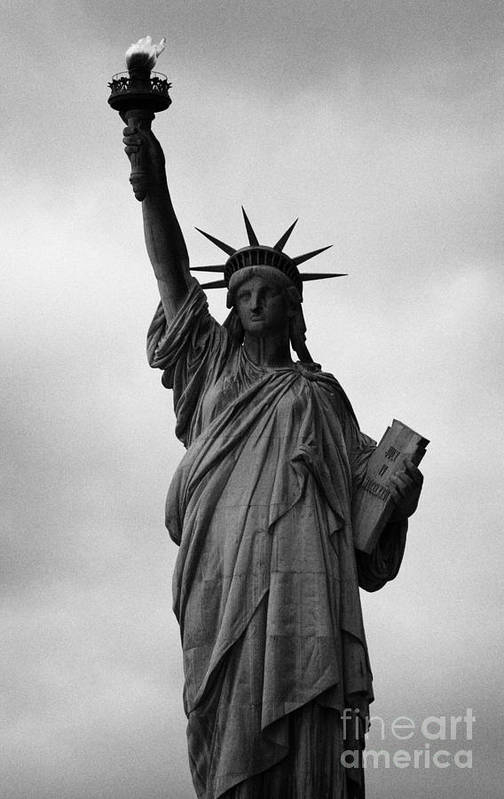 Usa Poster featuring the photograph Statue Of Liberty National Monument Liberty Island New York City Nyc by Joe Fox