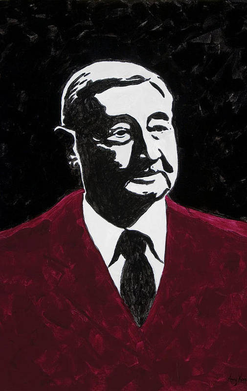 Voice Of The Razorbacks Poster featuring the painting Paul Eells by Amy Parker