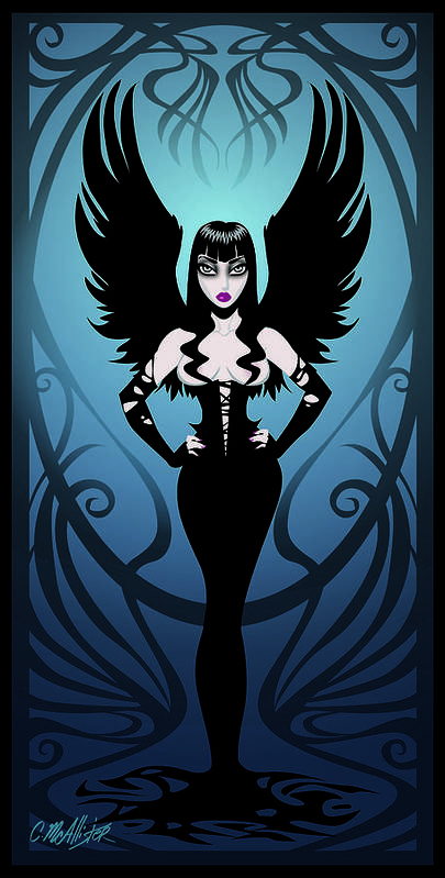 Pinup Poster featuring the digital art Dark Angel by Cristina McAllister
