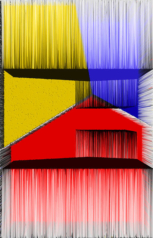 3d Poster featuring the digital art 3d Abstract 1 by Angelina Vick