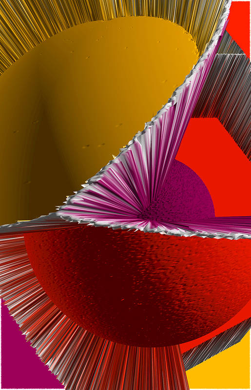 3d Poster featuring the digital art 3d Abstract 5 by Angelina Vick