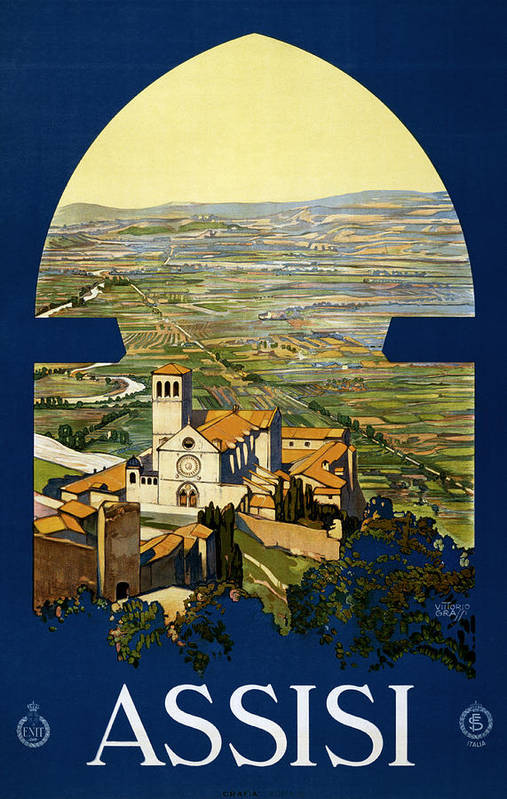 Abbey Poster featuring the digital art Assisi Italy by Georgia Fowler
