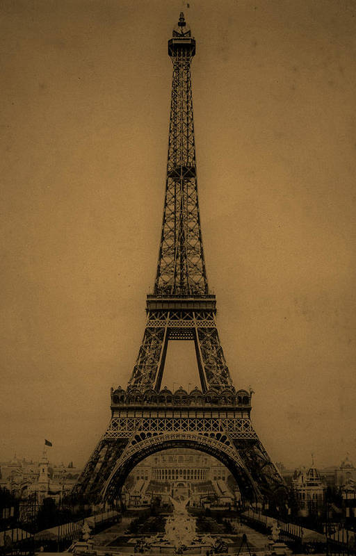 Eiffel Tower Poster featuring the photograph Eiffel Tower 1889 by Andrew Fare