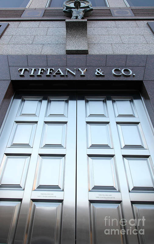 San Francisco Poster featuring the photograph San Francisco Tiffany And Company Store Doors - 5d20562 by Wingsdomain Art and Photography