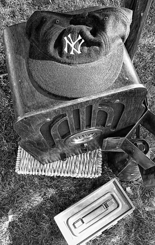 New York Poster featuring the photograph Yankee Cap by Ron Regalado