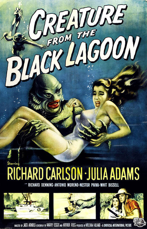 1950s Poster Art Poster featuring the photograph Creature From The Black Lagoon by Everett