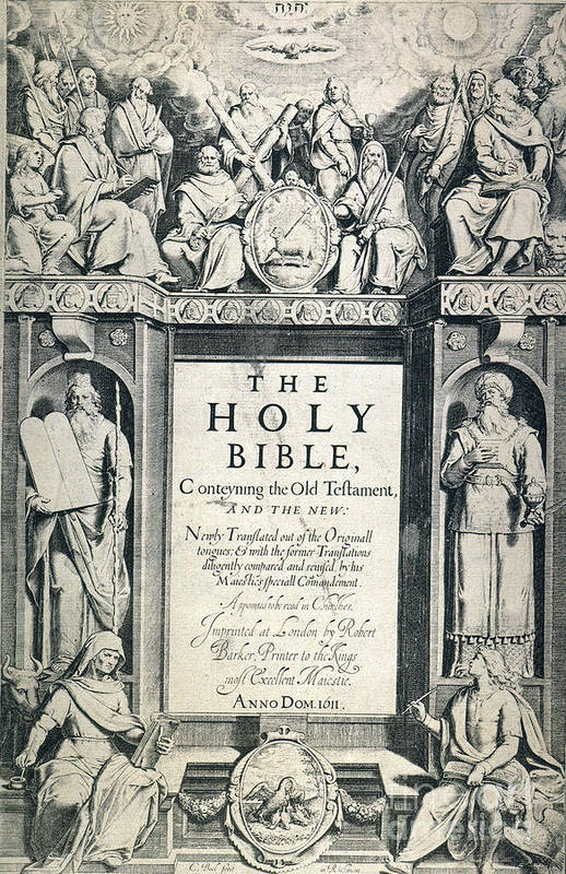 1611 Poster featuring the photograph King James I Bible, 1611 by Granger