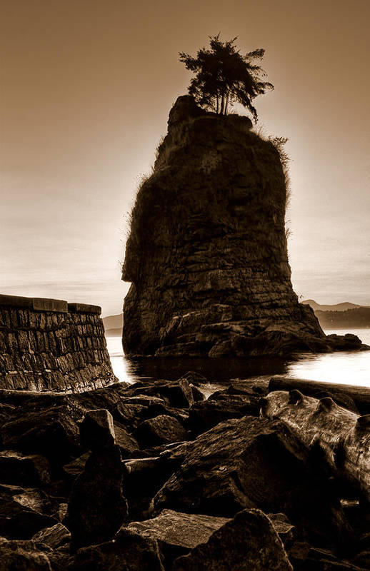 Siwash Rock Poster featuring the photograph Siwash by Matt Trimble