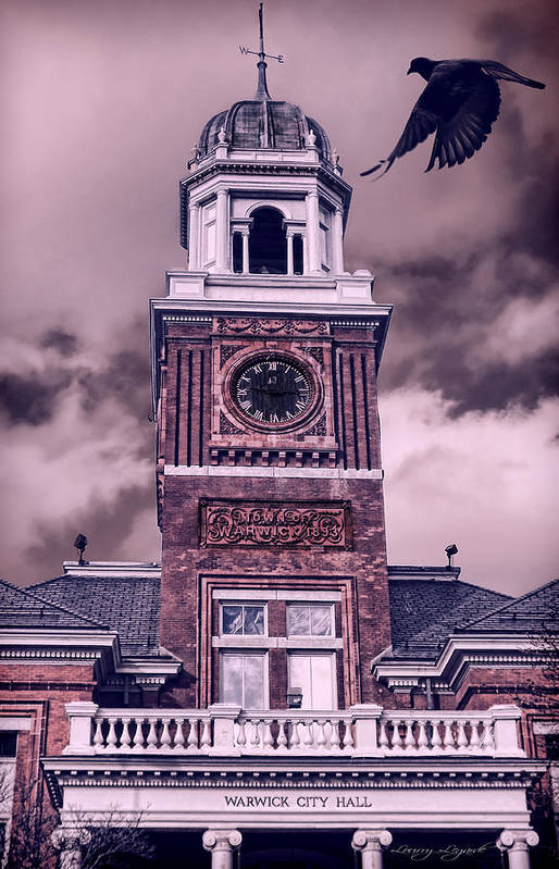 Rhode Island Poster featuring the photograph Warwick City Hall by Lourry Legarde