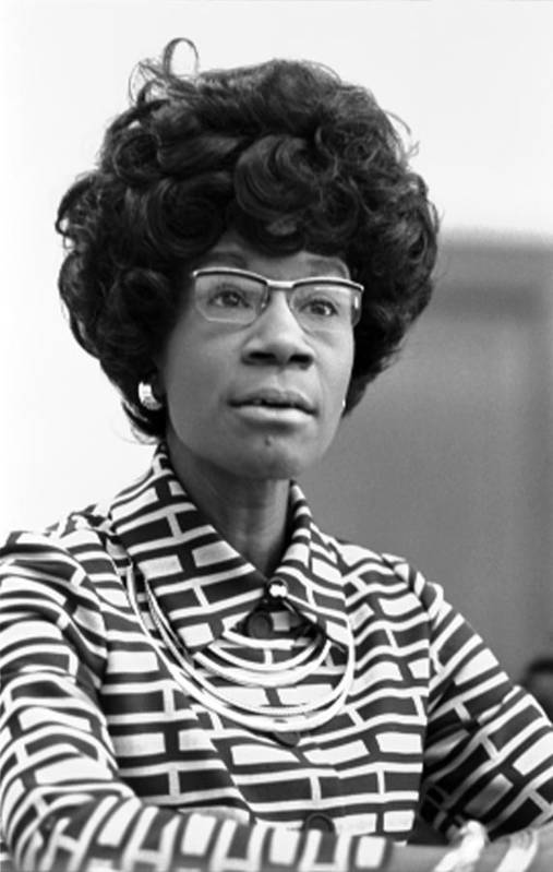 1970s Poster featuring the photograph Congresswoman Shirley Chisholm by Everett