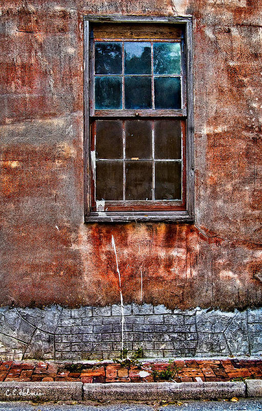 Window Poster featuring the photograph Faded Over Time by Christopher Holmes