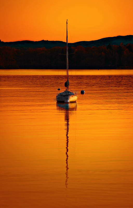 Windermere Poster featuring the photograph Nuclear Sunset by Meirion Matthias