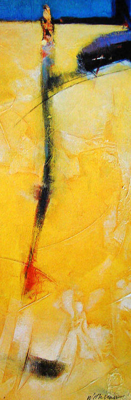 Abstract Poster featuring the painting Yellow Fevers by Dale Witherow