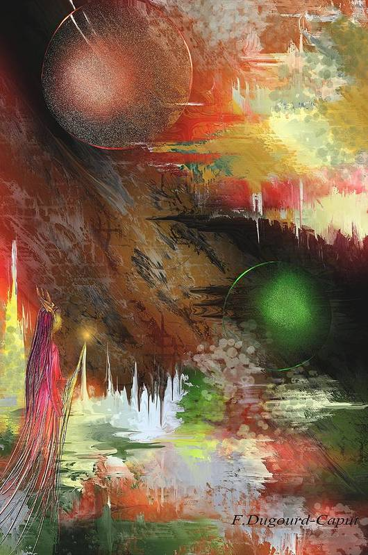 Abstract Poster featuring the painting Esperance by Francoise Dugourd-Caput