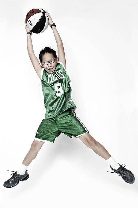 Nba Poster featuring the photograph Celtics Fan by Tolga Kavut