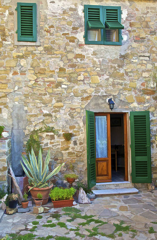 Ally Poster featuring the photograph Courtyard Of Tuscany by David Letts