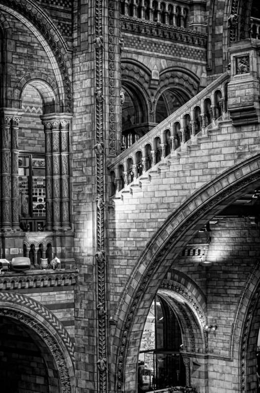 Architecture Poster featuring the photograph Escheresq Bw by Heather Applegate