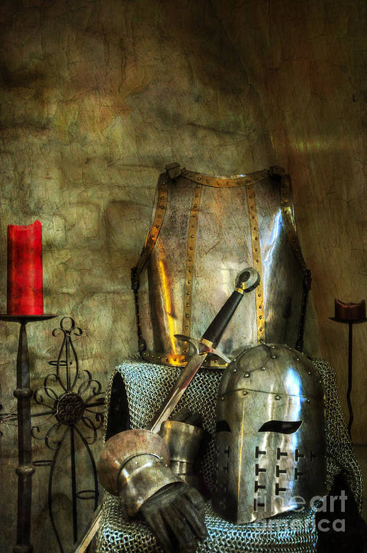 Medieval Poster featuring the photograph Knight - A Warriors Tribute by Paul Ward