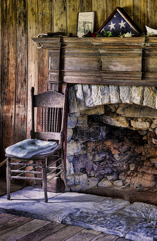 Fireplace Poster featuring the photograph Memories by Heather Applegate