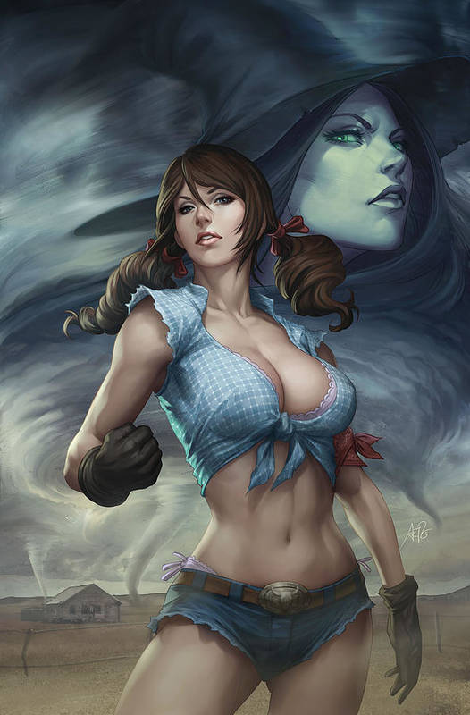 Grimm Fairy Tales Poster featuring the drawing Oz 01b by Zenescope Entertainment