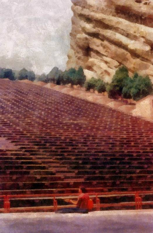 Red Rocks Poster featuring the photograph Playing At Red Rocks by Michelle Calkins