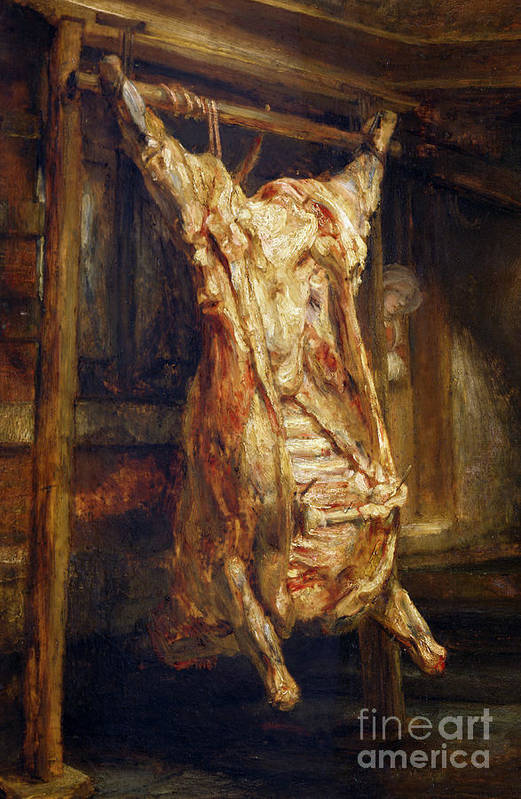 Still Life Poster featuring the painting The Slaughtered Ox by Rembrandt Harmenszoon van Rijn