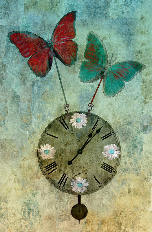 digital Art Canvas Prints Poster featuring the photograph Time Flies by Aimelle