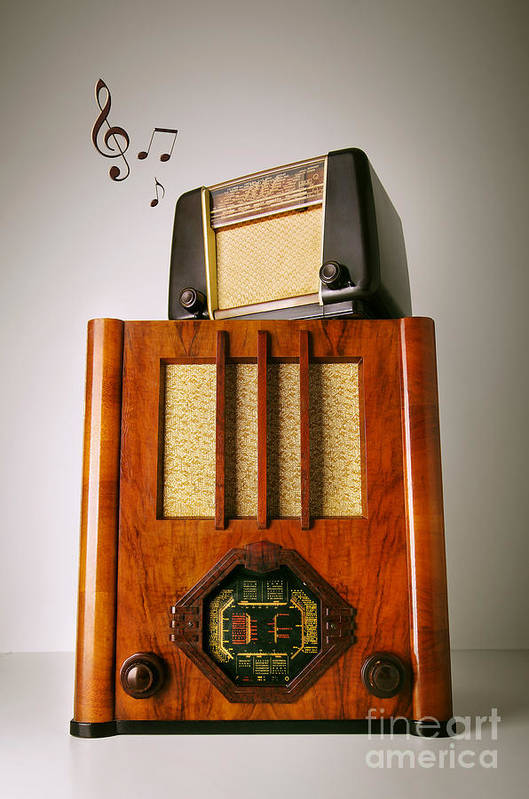 Analog Poster featuring the photograph Vintage Radios by Carlos Caetano
