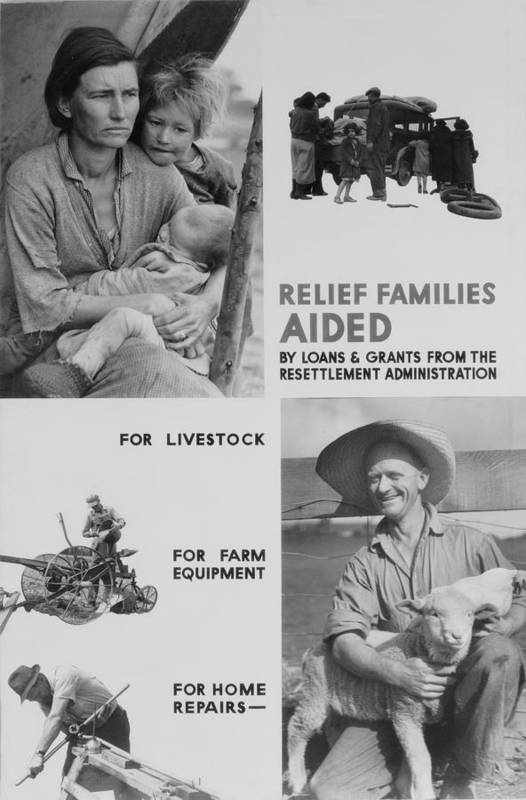 History Poster featuring the photograph United States Resettlement by Everett