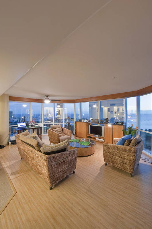 Comfort Poster featuring the photograph Usa Hi Honolulu Upscale Living Room by Rob Tilley