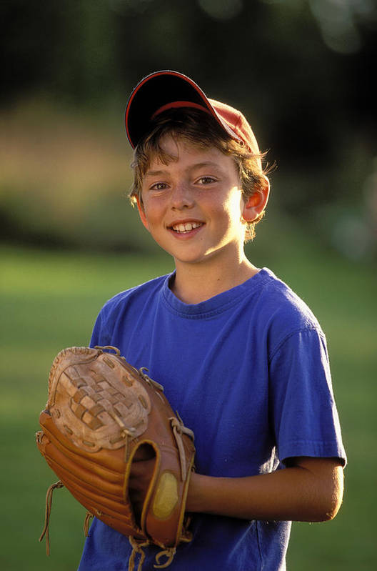 10-13 Poster featuring the photograph Boy With Baseball Glove by John Sylvester