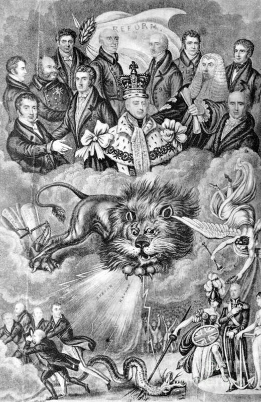 1830 Poster featuring the photograph England: Reform, 1830 by Granger