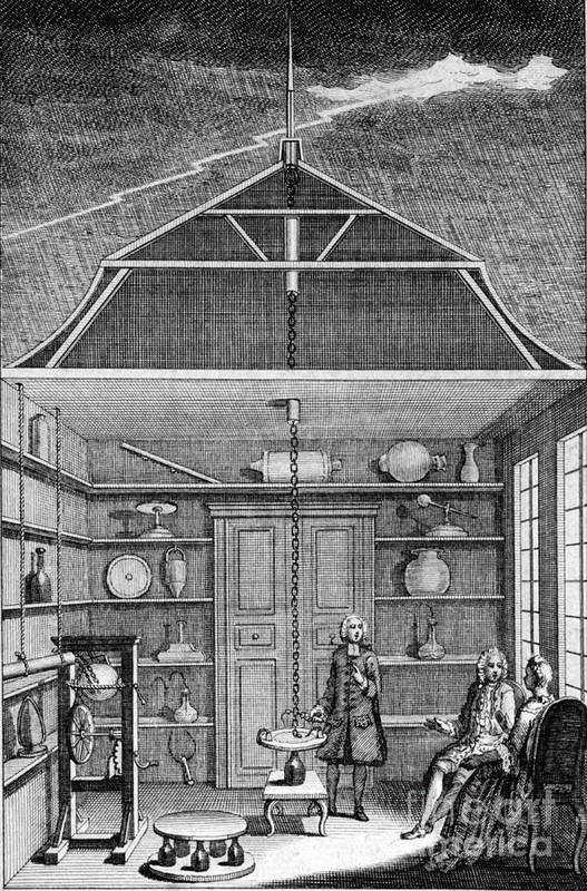Science Poster featuring the photograph Enlightenment Lightning, 1766 by Science Source