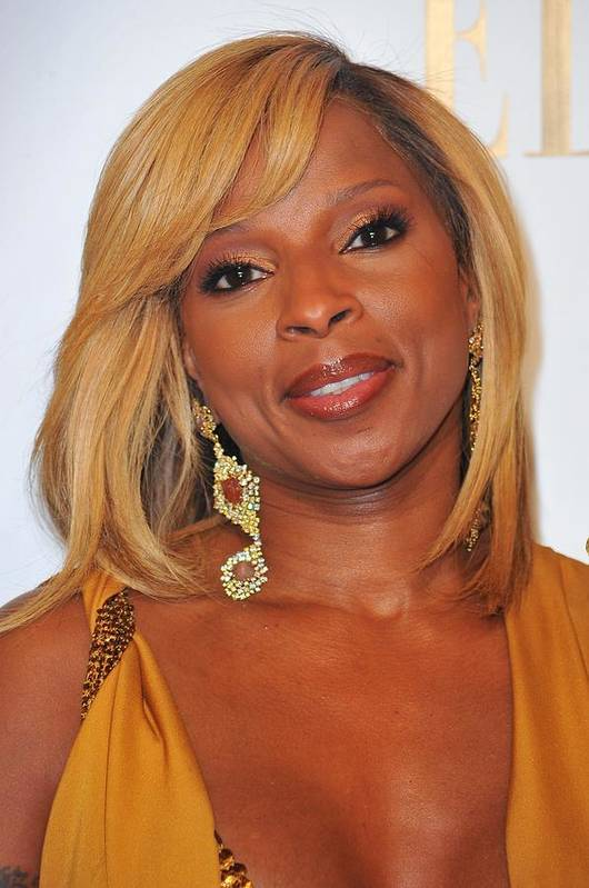Mary J. Blige Poster featuring the photograph Mary J. Blige In Attendance For 2nd by Everett
