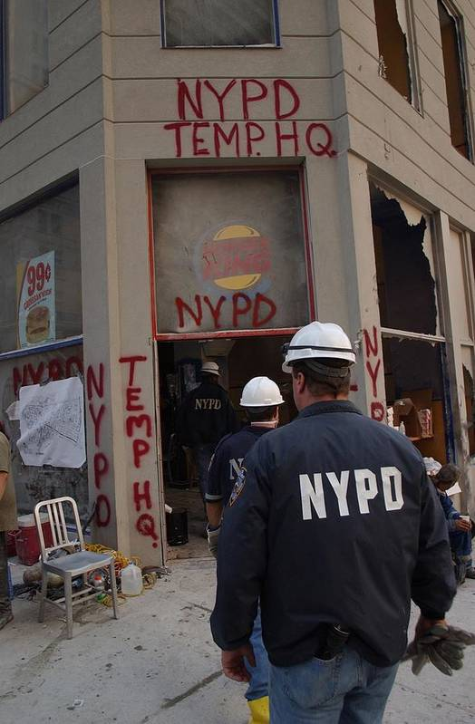 2000s Poster featuring the photograph New York Police Department Set by Everett