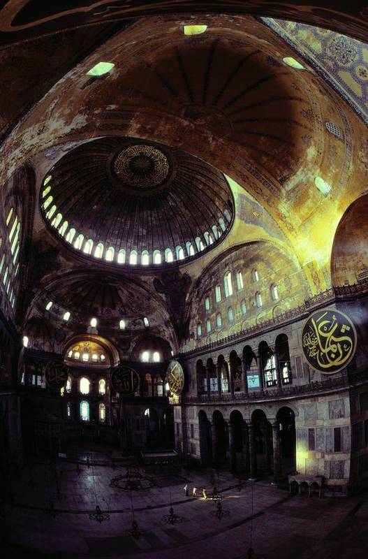 Hagia Sophia Poster featuring the photograph View Of The Interior Of Hagia Sophia by James L. Stanfield