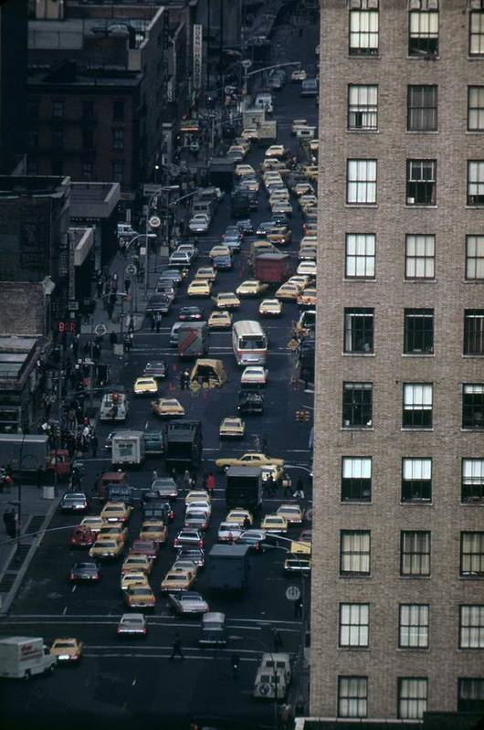 History Poster featuring the photograph Traffic In New York City. View by Everett