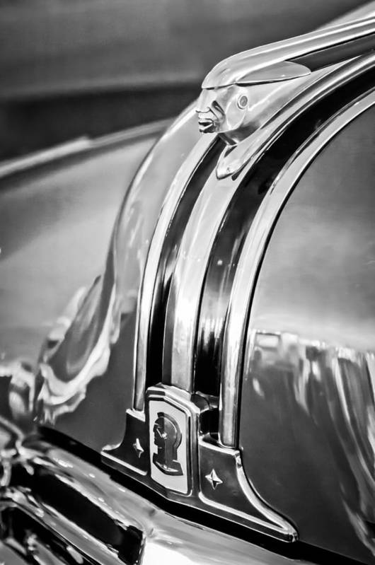 1948 Pontiac Hood Ornament Poster featuring the photograph 1948 Pontiac Chief Hood Ornament 4 by Jill Reger