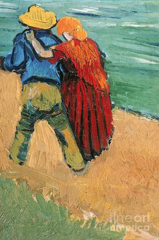 Pair Poster featuring the painting A Pair Of Lovers by Vincent Van Gogh